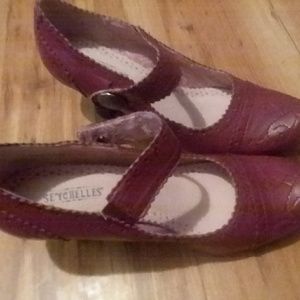 Seychelles Leather Shoes Heels Size 6M